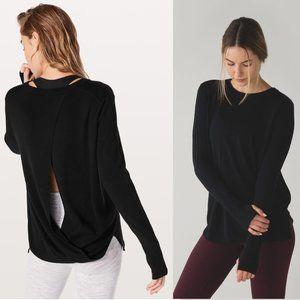 Lululemon Bring It Backbend Sweater Black